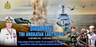 HUT TNI AL Ke 75.