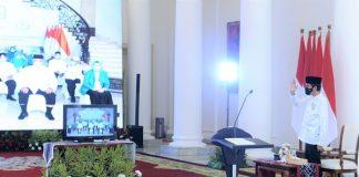 Presiden Jokowi Saat memberikan sambutan pada acara Pembukaan Muktamar IV Persaudaraan Muslimin Indonesia (Parmusi) Tahun 2020 secara virtual melalui konferensi video dari Istana Kepresidenan Bogor, Jawa Barat, Sabtu, 26 September 2020.