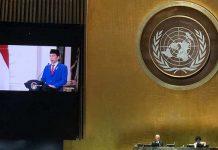 Pidato Presiden Joko Widodo (Jokowi) pada Sidang Majelis Umum ke-75Perserikatan Bangsa-Bangsa (PBB) secara virtual.