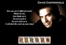 Ilusionis David Copperfield.