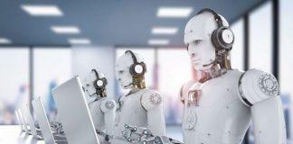 Ilustrasi Robot Teknologi AI.
