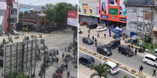 Aksi Rusuh Ratusan Massa Mengamuk di Kendari dan Rusak Sejumlah Tempat.