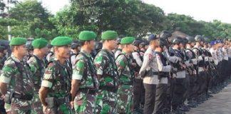 Ribuan Personel Gabungan Jaga Ketat Gedung DPR RI.
