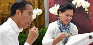 Presiden Joko Widodo dan Iriana Jokowi.