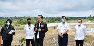 Presiden Jokowi Tinjau Kawasan Lumbung Pangan Baru di Sumatera Utara.