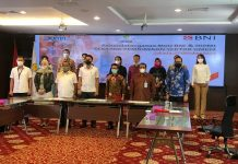 Badan Pengurus Pusat Himpunan Pengusaha Muda Indonesia (BPP HIPMI) melakukan Penandatanganan Memorandum of Understanding (MoU) dengan PT BNI (Persero) Tbk mengenai pembiayaan sektor usaha mikro, kecil, dan menengah (UMKM).