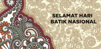 Ilustrasi Selamat Hari Batik Nasional.