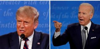 Donald Trump dan Joe Biden.