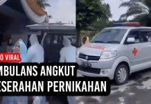 Viral, Video Ambulans Angkut Seserahan Pernikahan.