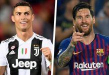 CristianoRonaldodan Lionel Messi.