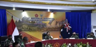 Panglima TNI Hadi bersama CDF Australia Pimpin Sidang ke-8 AUSINDO HLC Tahun 2020.