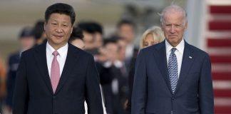 Presiden China Xi Jinping dan Joe Biden.