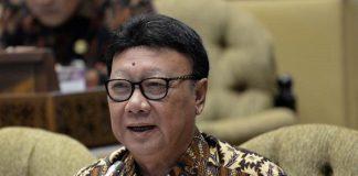 Menteri Pendayagunaan Aparatur Negara dan Reformasi Birokrasi Tjahjo Kumolo.