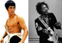 Bruce Lee dan Jimi Hendrix.
