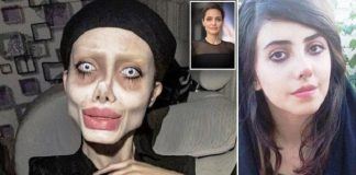 Sahar Tabar Selebgram Mirip Zombie Angelina Jolie.