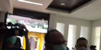Direktur Utama (Dirut) PT Jasa Marga, Subakti Syukur tiba di Gedung Komnas HAM.