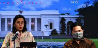 Menteri Keuangan (Menkeu) Sri Mulyani Indrawati kepada Menteri BUMN Erick Thohir.