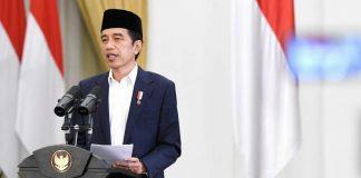 Presiden Joko Widodo (Jokowi) Saat membuka Muktamar IX Partai Persatuan Pembangunan (PPP) secara virtual.