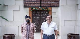 MenparekrafSandiaga Uno dan Menko Marves Luhut Binsar Panjaitan.