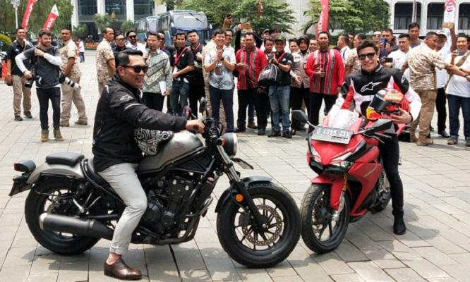Ridwan Kamil dan Marc Marquez.