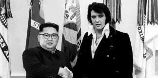 Kim Jong-un dan Elvis Presley.