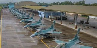 Pesawat tempur F-16 TNI AU.