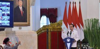 Presiden Jokowi Serahkan 584.407 Sertifikat Hak Atas Tanah secara Virtual.