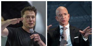 Elon musk dan Jeff bezos.