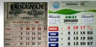 Viral, Kalender Jadul 1971 Bisa Dipakai di Tahun 2021.