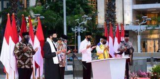 Presiden Joko Widodo (Jokowi) meresmikan langsung selesainya renovasi masjid tersebut pada Kamis, 7 Januari 2021, di halaman Masjid Istiqlal, Jakarta.